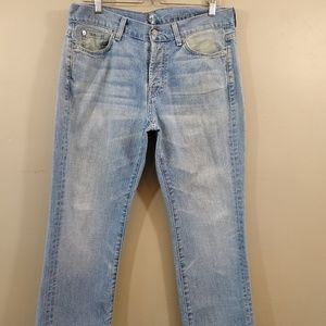 7 For All Mankind Cropped Capri Jeans Ladies 34